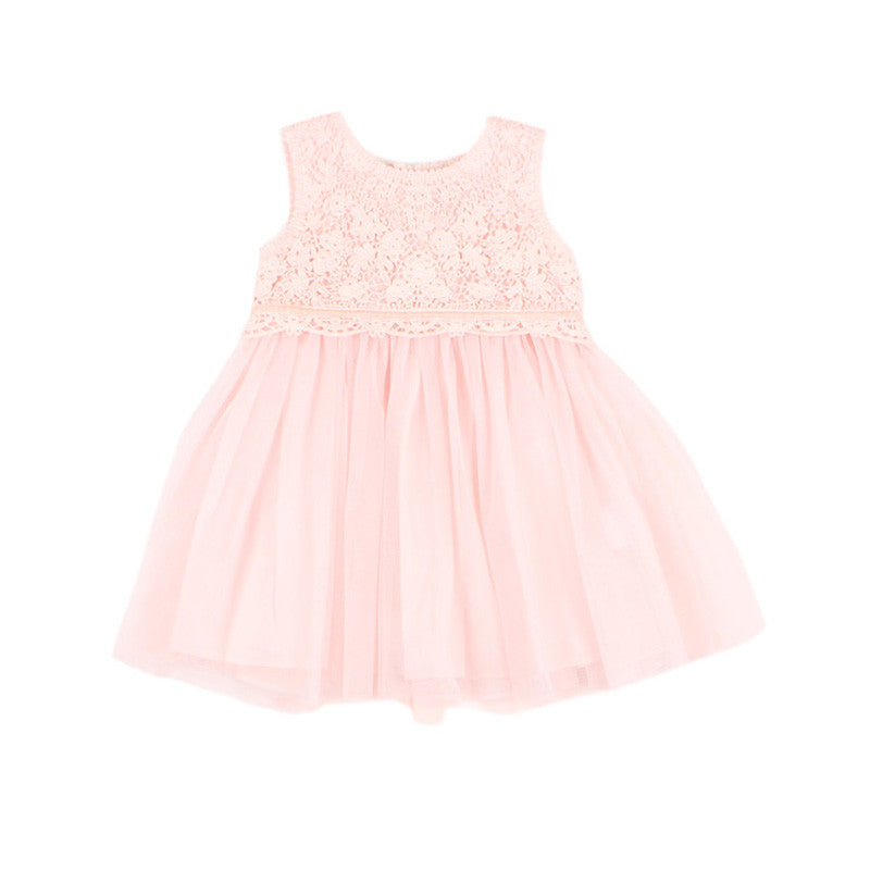 Lace Yoke Dress | Pink