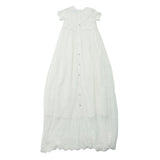S/S Lace X-Long Christening Gown | Ivory