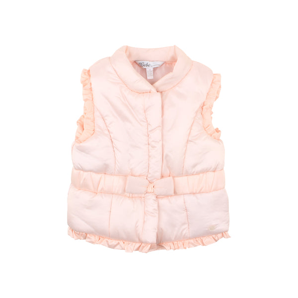 Rose Puffer Vest | Pearl Pink