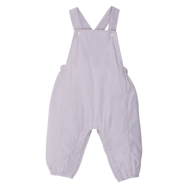 Textured Cotton Overall | Oyster Stripe