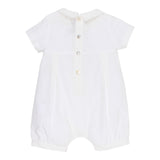 Pleated Romper | Ivory