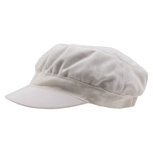 Cotton Linen Soft Cap | Ivory