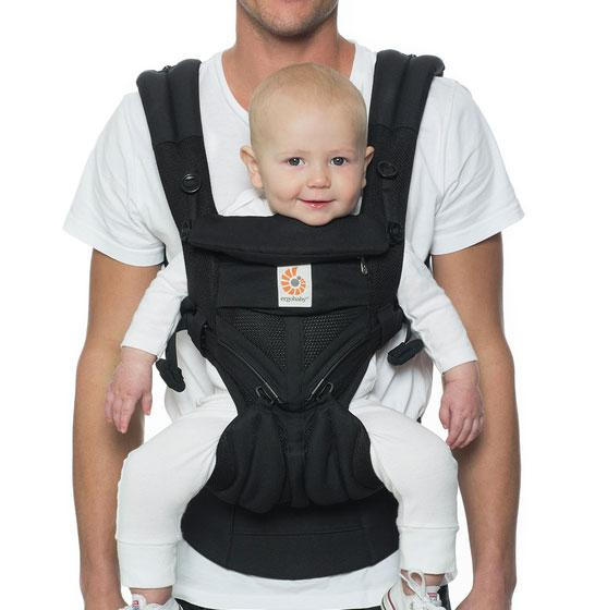 Omni 360 Baby Carrier | Cool Air Mesh |  Onyx Black
