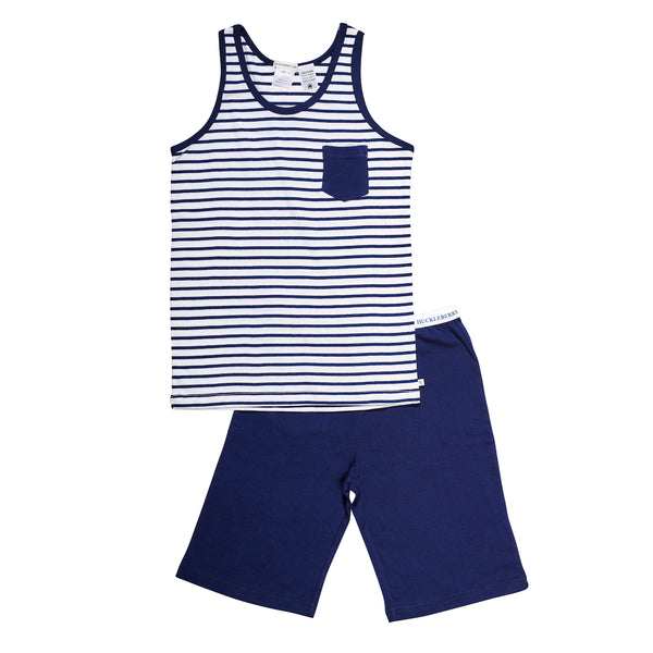 Singlet Pyjamas | Navy Stripe