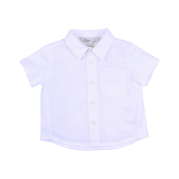 Louis Knit Linen Shirt | White