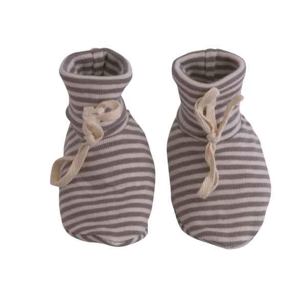 Booties | Grey Marl Stripe
