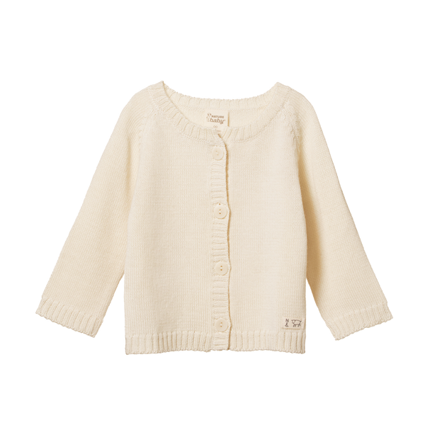 Merino Knit Cardigan | Natural