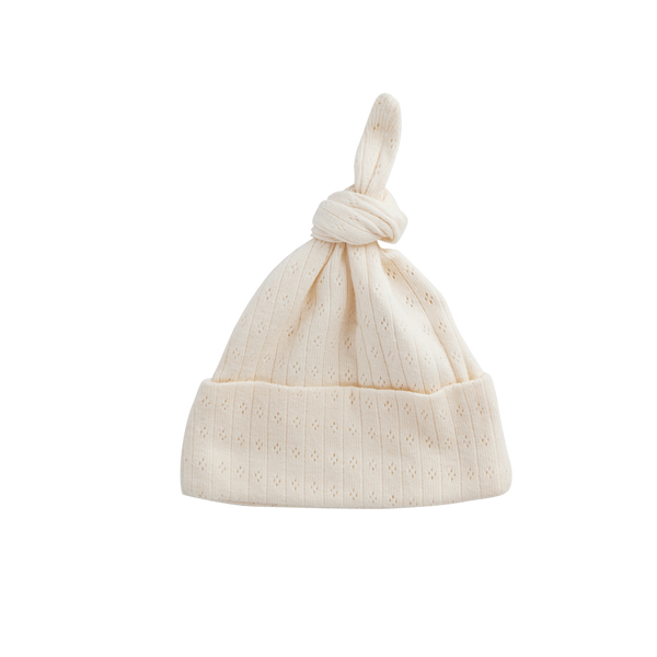 Knot Hat | Pointelle Natural