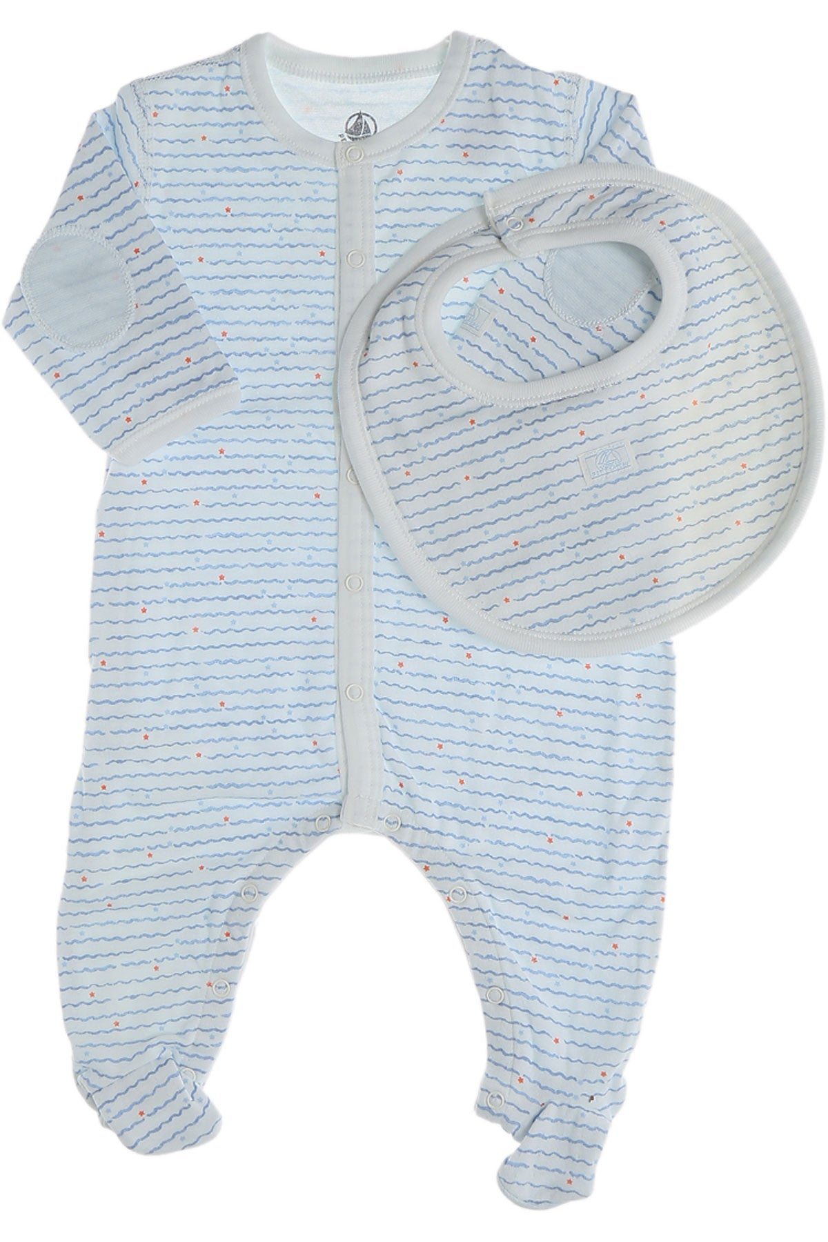Romper with Bib | Blue