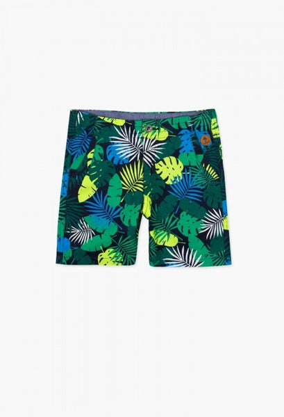 Bermuda Shorts | Tropical Leaf Print