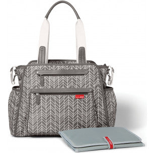 Grand Central Nappy Bag | Grey Feather