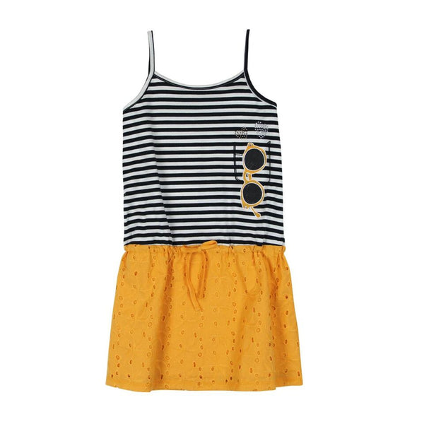 Combined Dress | Mustard/Stripe - SALE