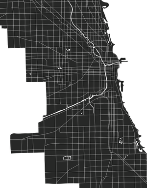 Chicago city map art print for the wall