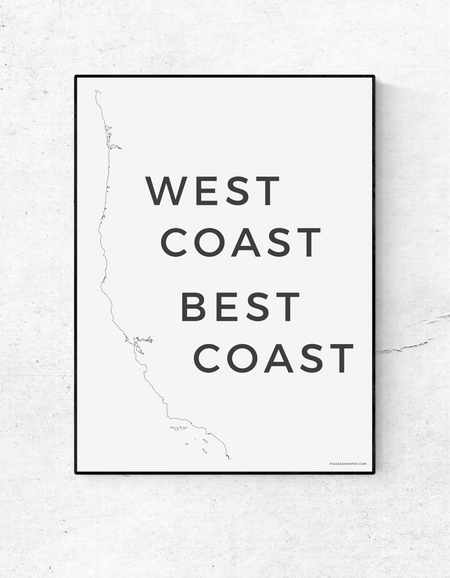West Coast Best Coast in Soft Pink