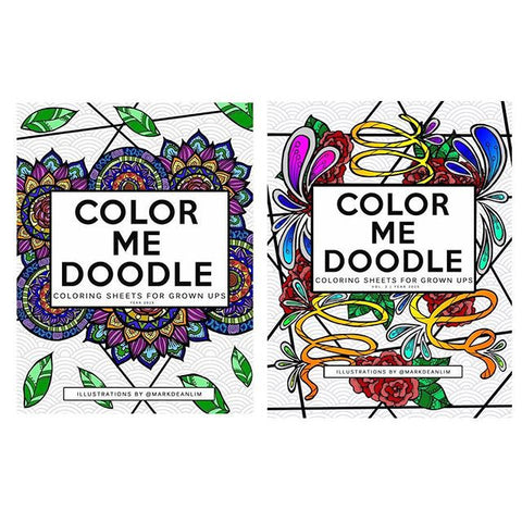 Color Me Doodle: Coloring Sheets for Grown-Ups