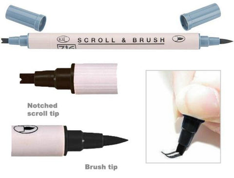 ZIG Scroll & Brush