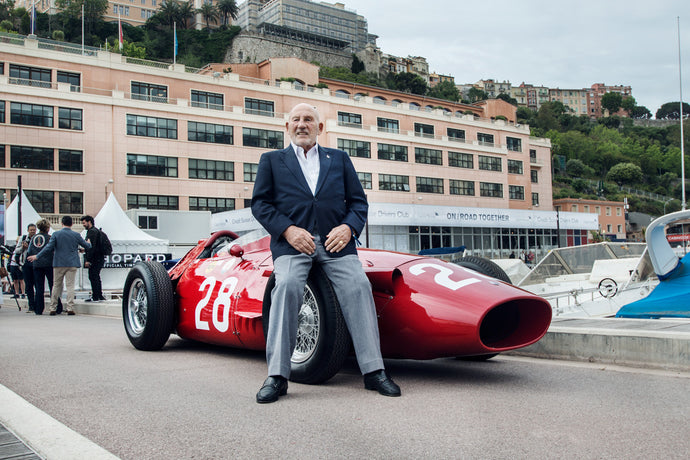 60 years apart: Stirling Moss and the Maserati 250F
