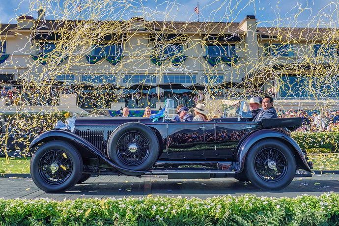 Pebble Beach Concours d'Elegance® 2019: la cravatta per celebrare i 100 anni di Bentley.