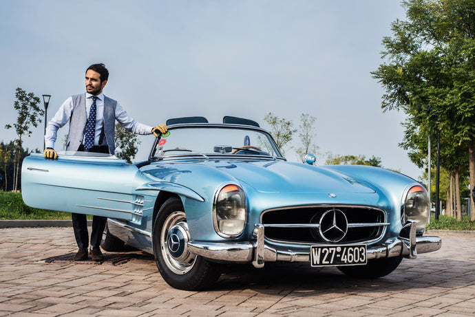Color inspirations: from Ascari to movie stars, the light blue of champions