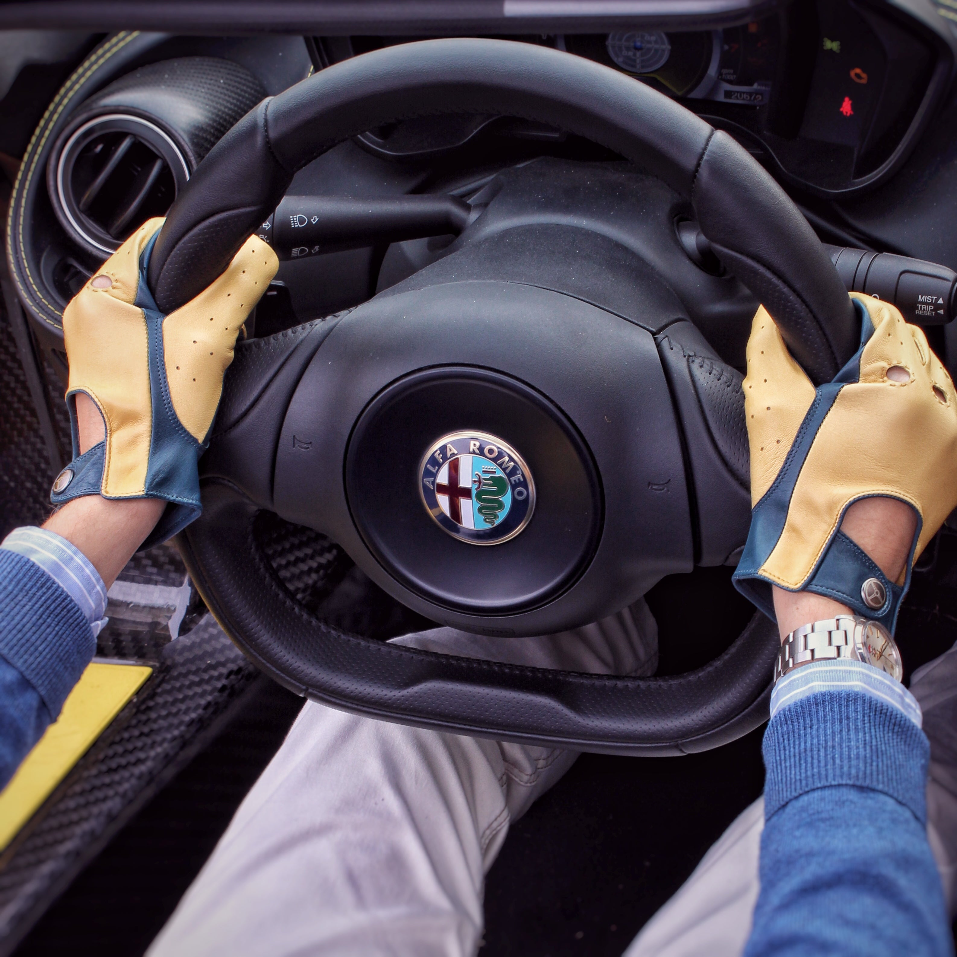 Marchettino Tests The Alfa Romeo C Spider Wearing The Outlierman - Alfa romeo driving gloves