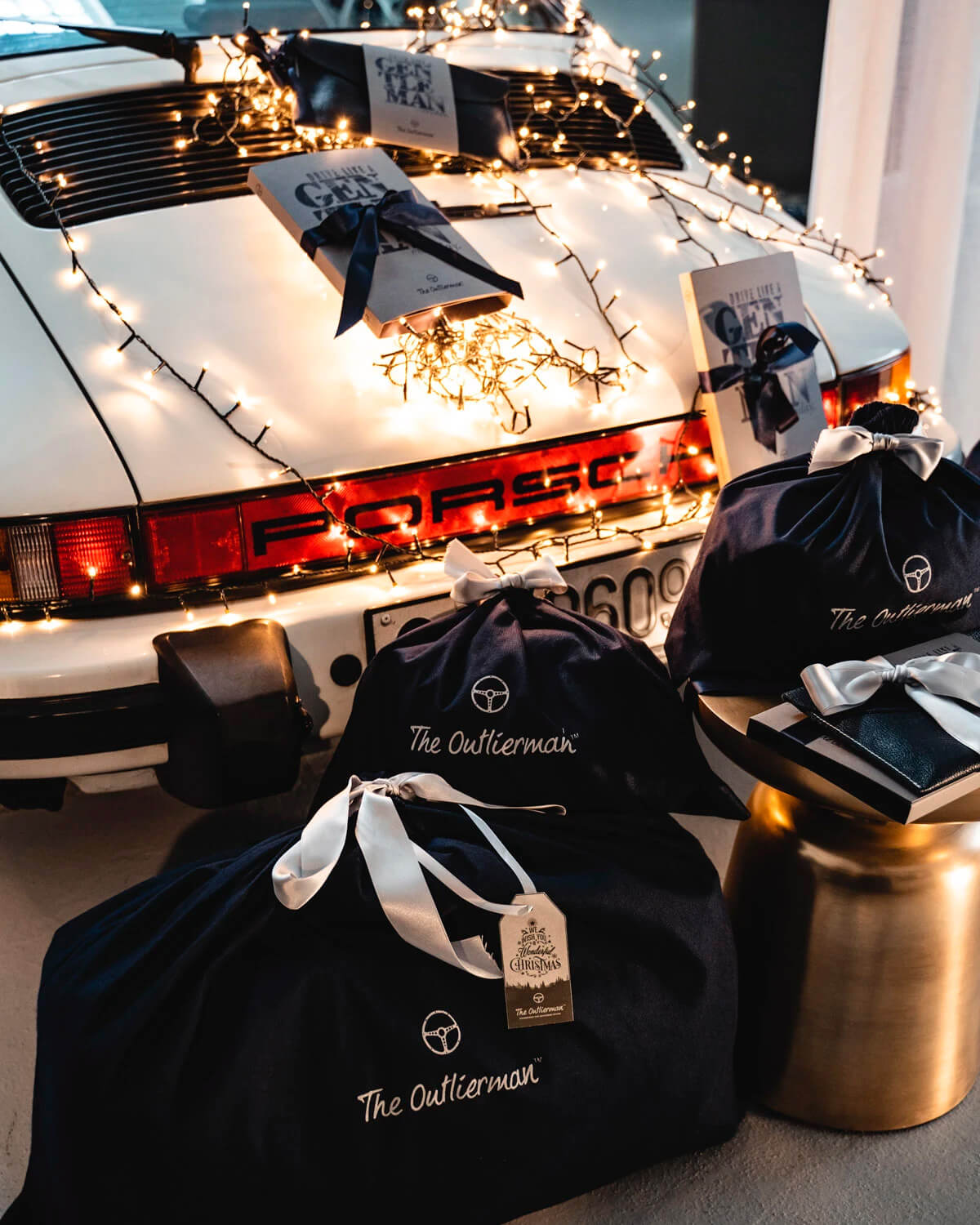 Classic Porsche 911 and The Outlierman Christmas gifts