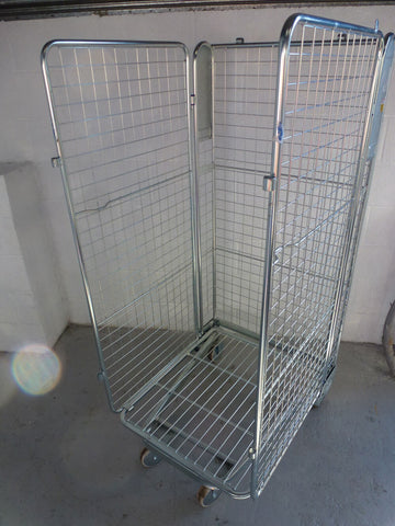 3 sided mesh cage no shelf - Refurbished