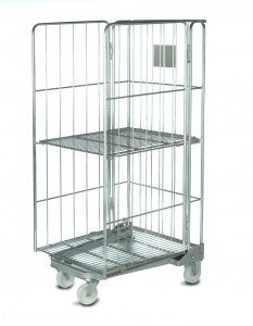 3 sided rod cage with shelf - Refurbished