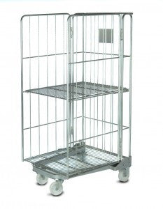 3 sided rod cage with shelf