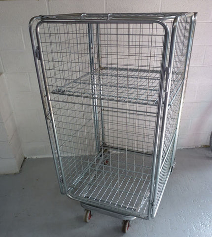 4 sided full security cage with shelf