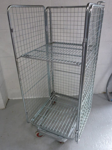 4 sided mesh cage with shelf