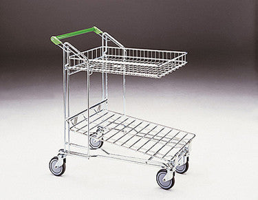 Merchandising trolley - 27 litre basket