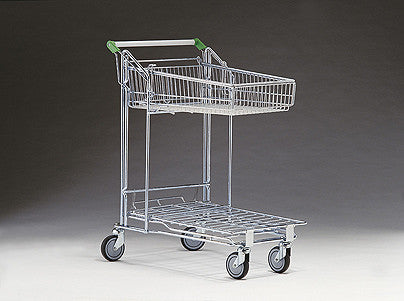 Merchandising trolley - 57 litre basket
