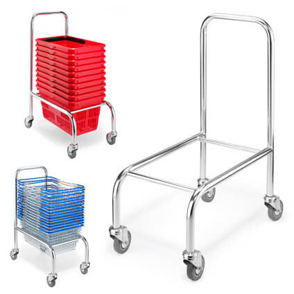 High Back Basket Stacker - Mobile