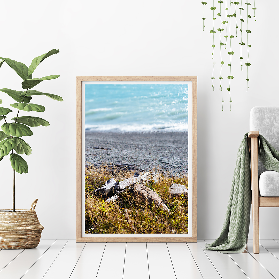 beach print / coastal print / lake tekapo
