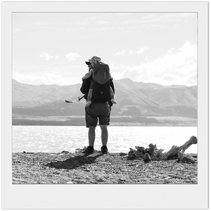 New Zealand Hiking / Black and white print New Zealand