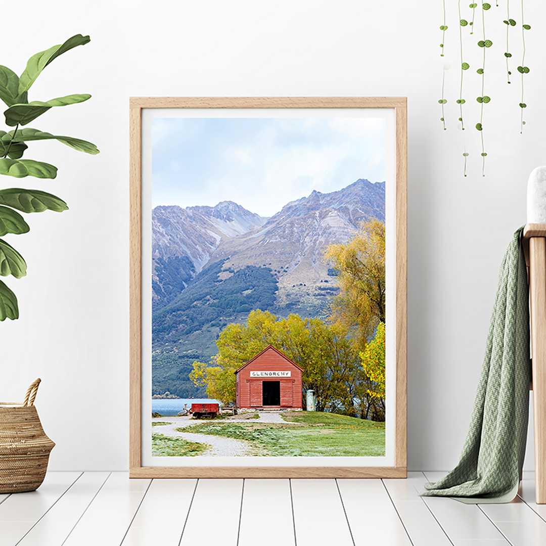 Glenorchy Boat Shed / Queenstown Photo Print / New Zealand Photography