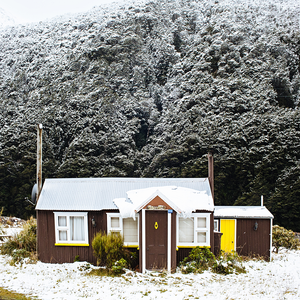 New Zealand Print / New Zealand Photography / New Zealand Snow Shack