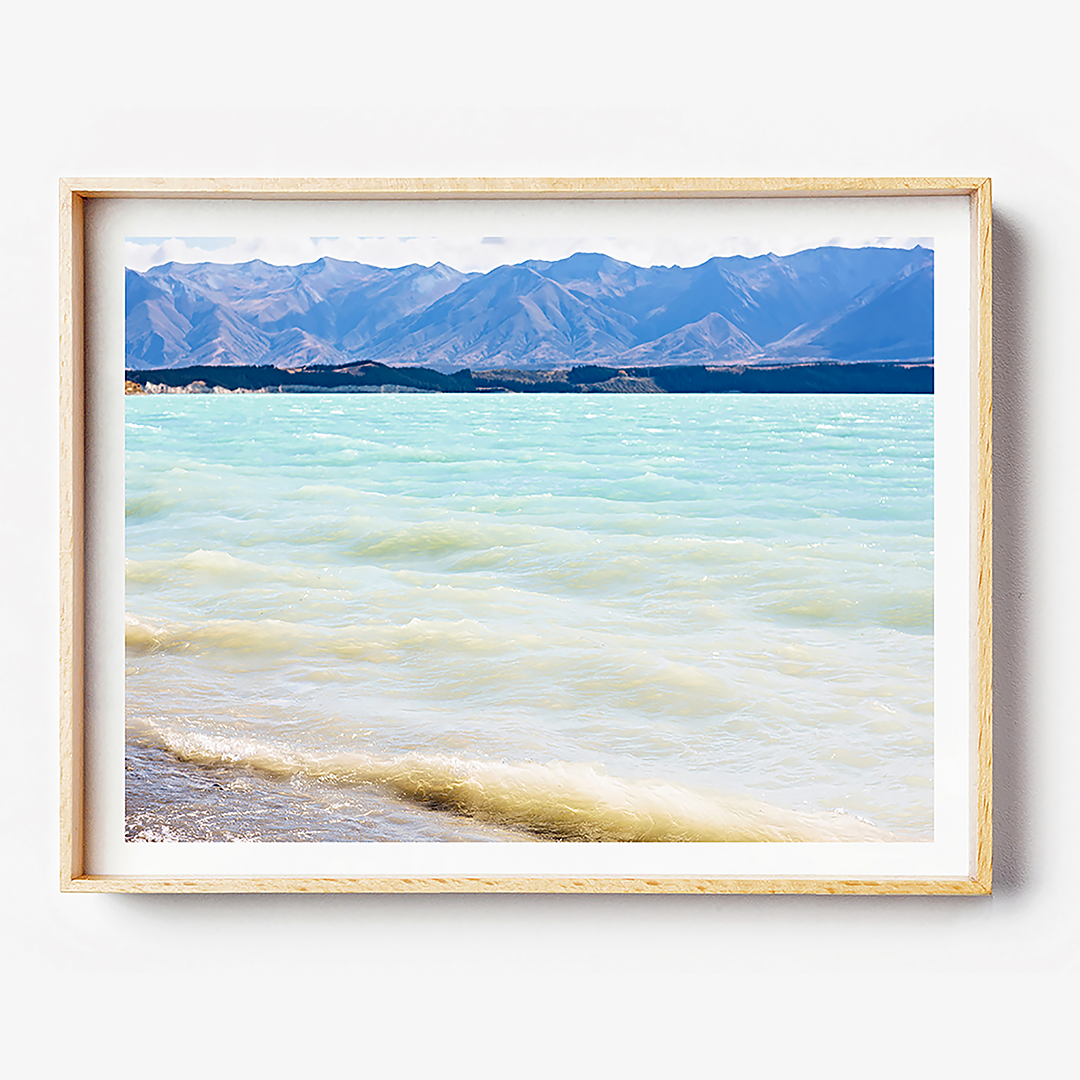 Beach Print / Water Print / New Zealand Print / Lake Tekapo Print