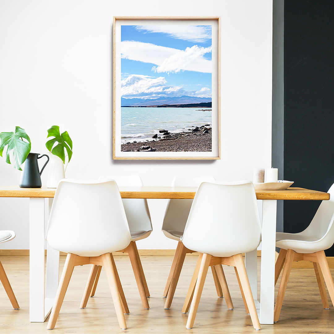 Beach Print / Coastal Print / Lake Tekapo Photography / New Zealand