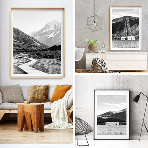Black and White Print / new Zealand Photography / New Zealand Print