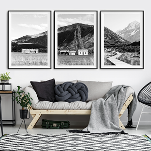 New Zealand Photographic Print / Black and white print