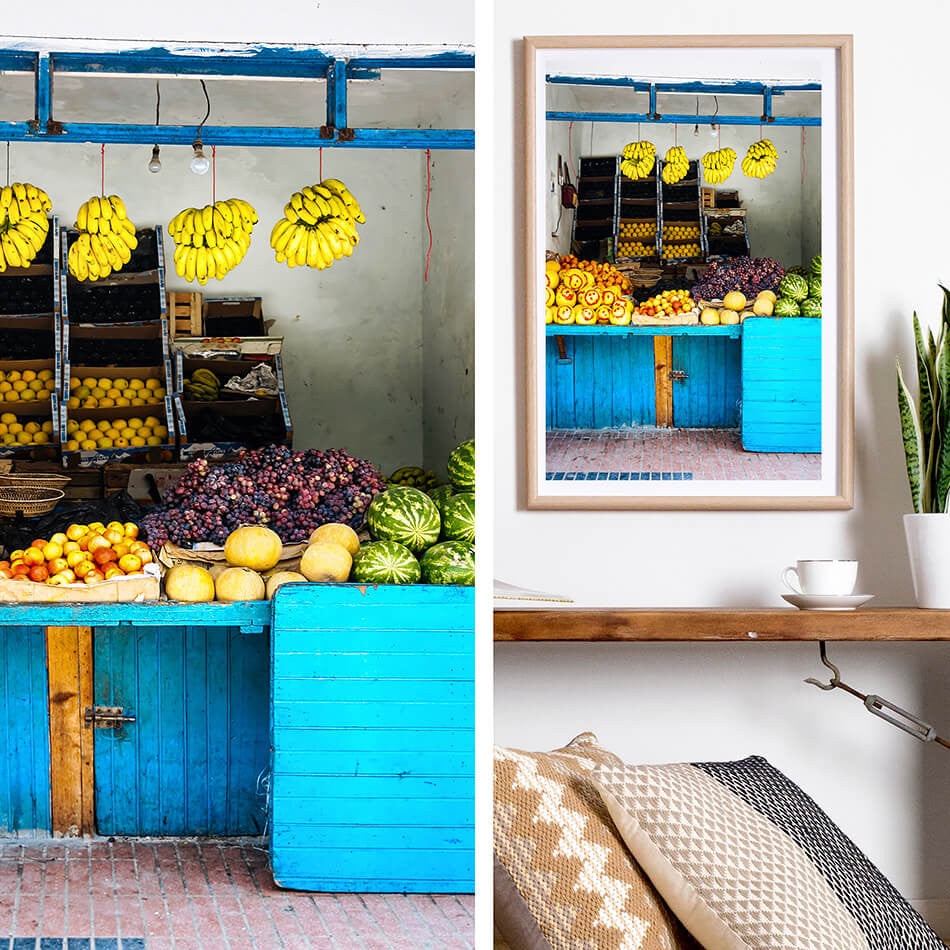 Morocco Travel Photography, Beach Print, Coastal Interior