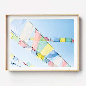 Prayer Flags / Nepal Photography Print / Travel Photographer