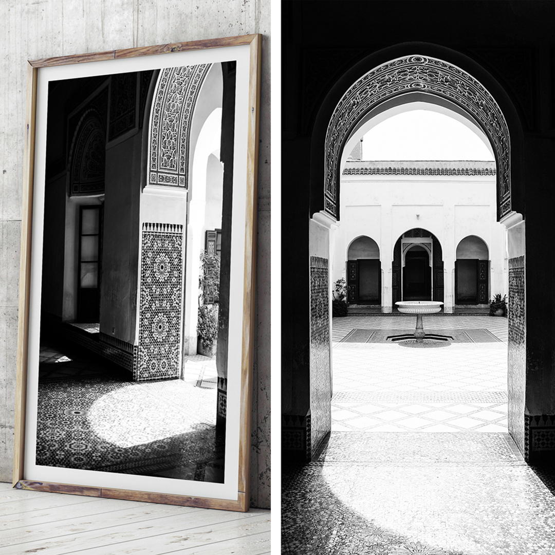 Black and white print / morocco print