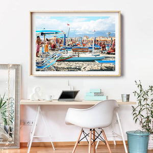 Coastal Photography Print / Beach Photo Print / Framed Art Mediterranean