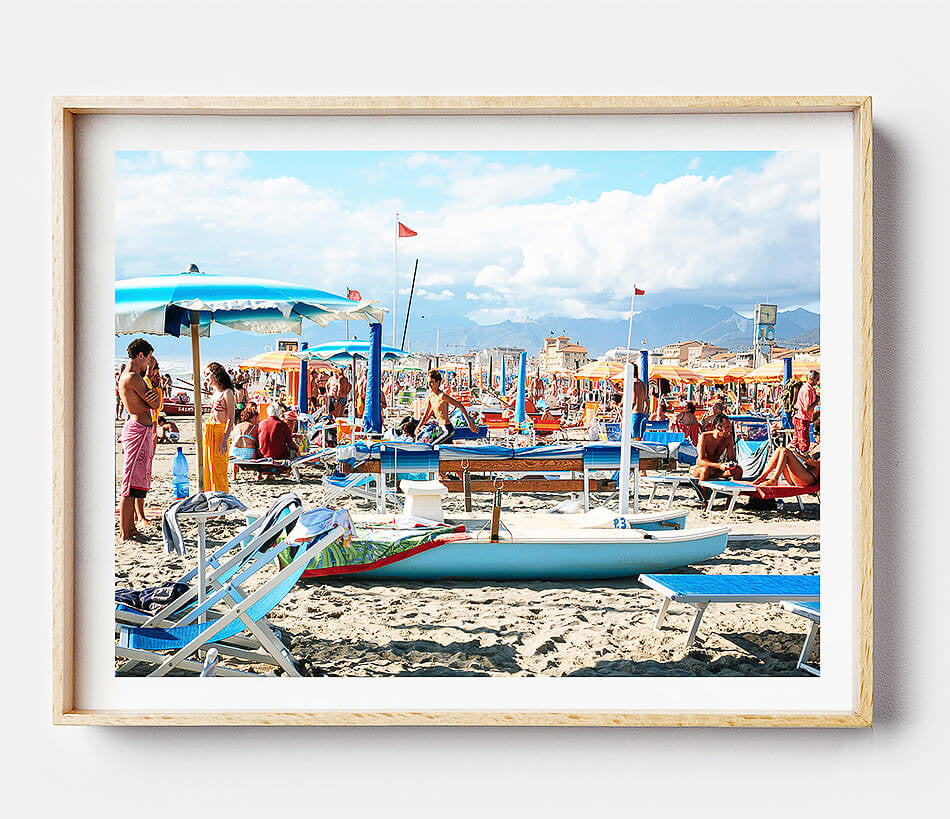 Beach Print / Coastal Art / Beach Photography / Italy in the Summer