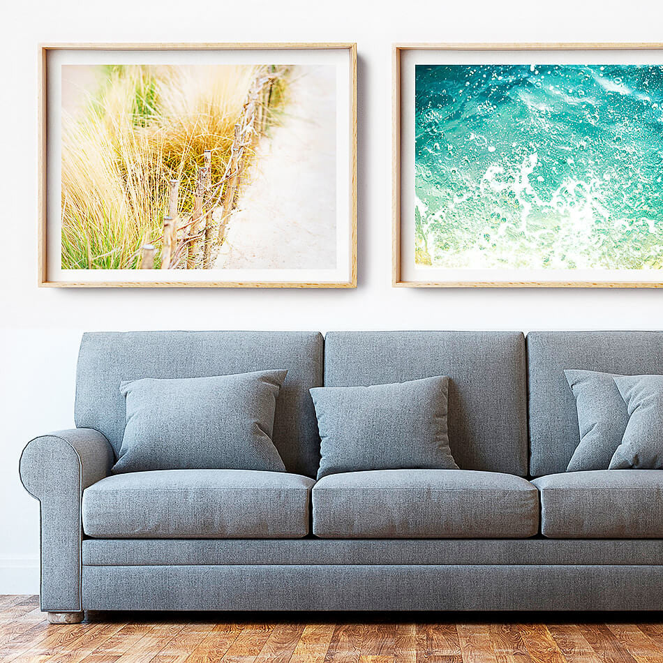 Beach Photography Print / Coastal Home Interior / Beach Art Print Brisbane
