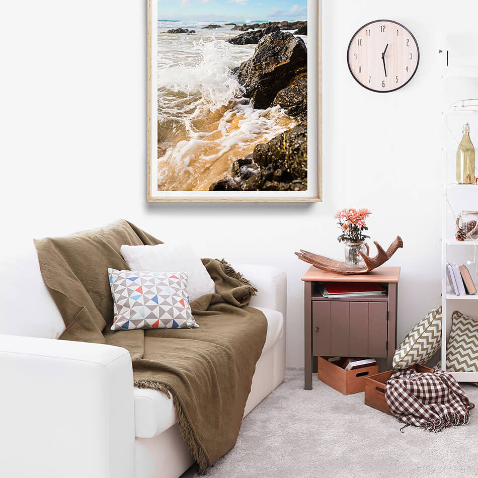 Beach Print, beach photography, coastal home interior, byron bay