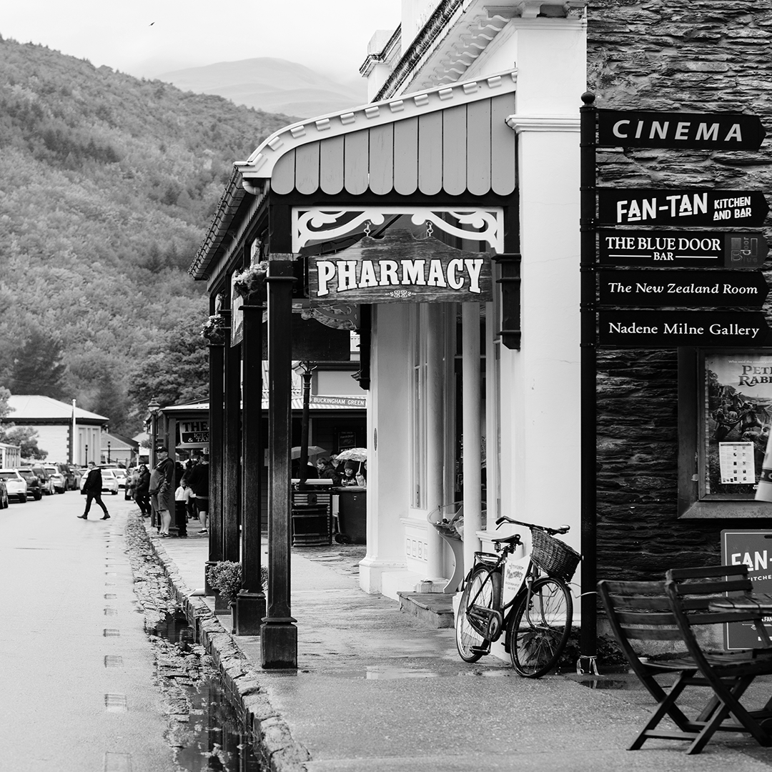 Black and white photography arrowtown new zealand
