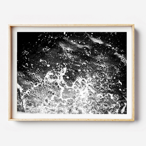 Black and white print / beach print / coastal print / black and white interior